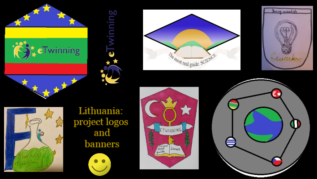 Project logos and banners by Lithuanian students